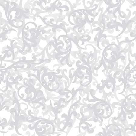 Abstract decorative floral retro seamless pattern  flower leaves background Vector