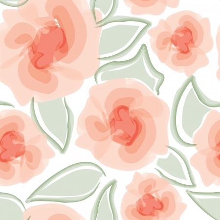 Rosas florales patrón de color de fondo sin fisuras de agua dulce florecer ramo