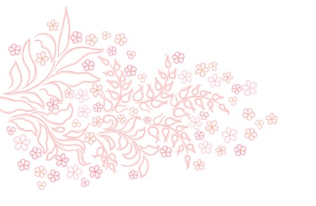Flower background  Floral branch  gentle flowers enge Vector