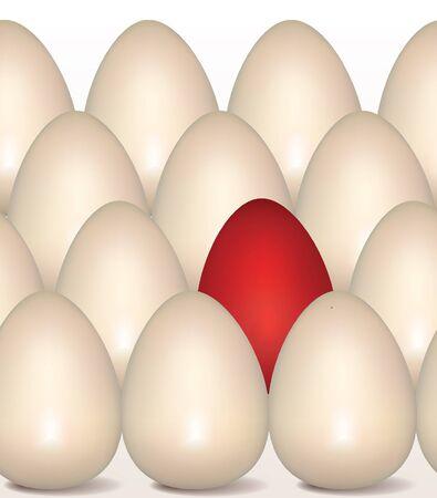 Red Egg Concept  Golden eggs seamless on white background   Stock Photo - 18905426