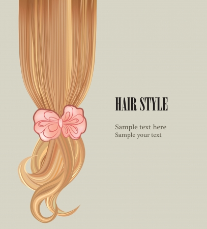 haircare: Hair background  Hair style poster template illustration Stock Photo