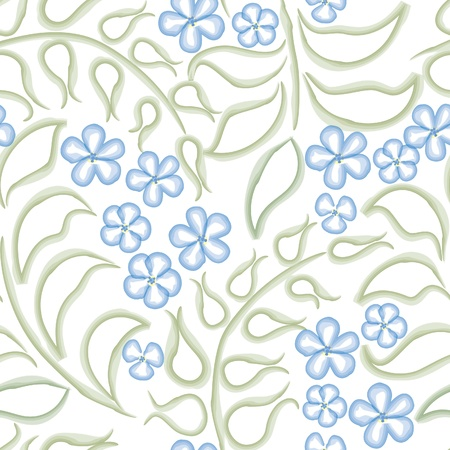 Flower background  Seamless pattern with flowers, floral illustration  Water color white backdrop illustration