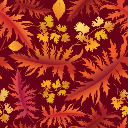 Autumn  leaves seamless pattern  Purple floral background Vector