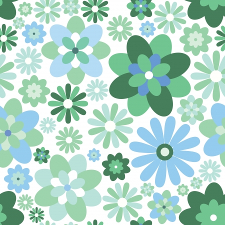 Abstract Elegance Seamless pattern  Spring floral background  Vector