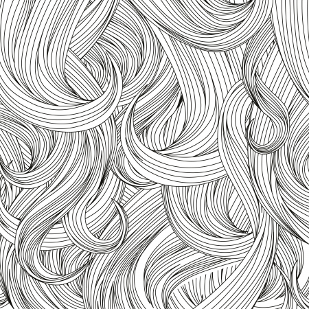 pelo ondulado: Fondo hair ilustraci�n patr�n Vector Vectores