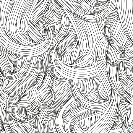 Haar achtergrond Haar stijl patroon Vector illustratie