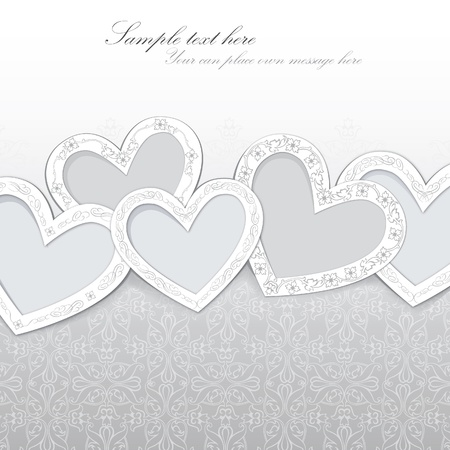 heart background with copy space Vector