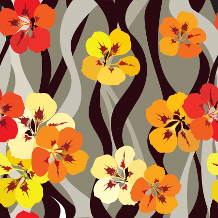 floral seamless pattern with gentle flowers  Flourish seamless background   Vector