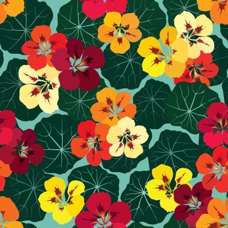 ornate swirls: floral seamless pattern with gentle flowers  Flourish seamless background