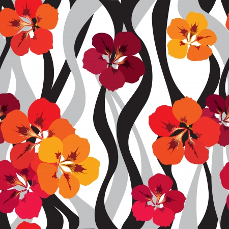 floral seamless pattern with gentle flowers  Flourish seamless background