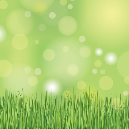 Nature background with grass Stock Vector - 19620954