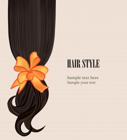 long hair woman: Peinado Vectores