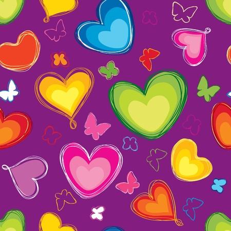 Love heart seamless background Stock Vector - 19619536