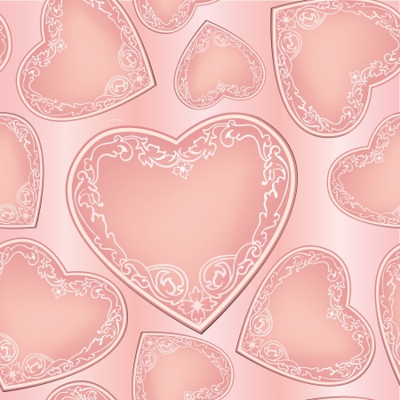 Valentine Day Seamless Pattern Stock Vector - 19620934