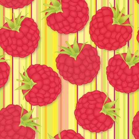 raspberry seamless background  Seamless pattern of realistic image of delicious ripe berries