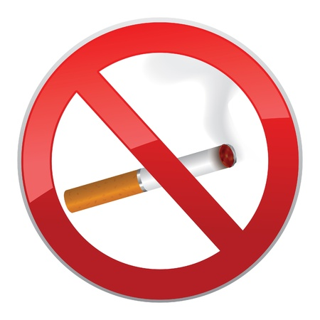 No smoking symbol  Inscription made of cigarettes on pure background Stock Vector - 19619502