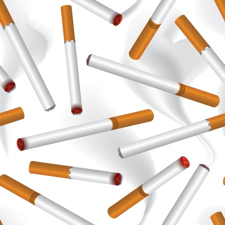 cigarette seamless background Stock Vector - 19620956