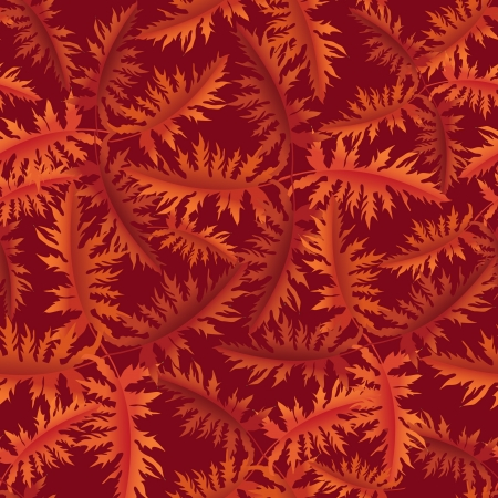 Autumn leaves seamless background  Floral vector pattern   Vector