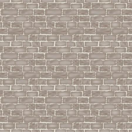 brick wall texture  seamless vector background   Illustration