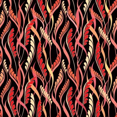 asian gardening: Flower seamless background  Floral vector pattern   Illustration