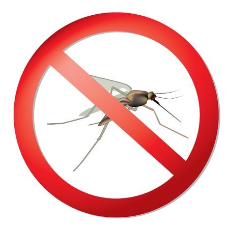 Mosquitos sign  stop mosquito symbol