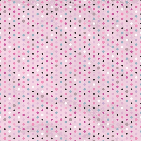 pink and black: Vintage Polka Dots Seamless Background  Illustration