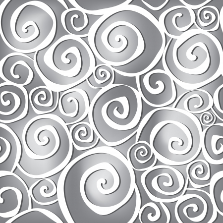 Abstract black and white wavy background in 1960s fabric style   Vector