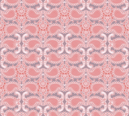 fantail: Abstract floral seamless ornamental pattern  Pink background