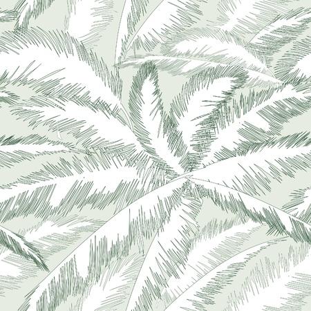 装飾的な抽象的なシームレスな花柄ヤシの葉のシームレスな背景