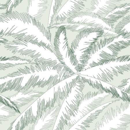 Decorative abstract floral seamless pattern  Palm leaves seamless background