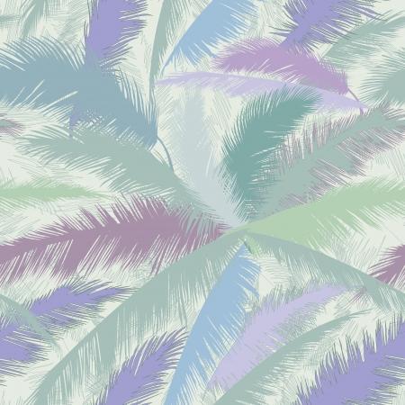 tropisch: Decorative abstract floral nahtlose Muster Palm Blätter nahtlose Hintergrund Illustration