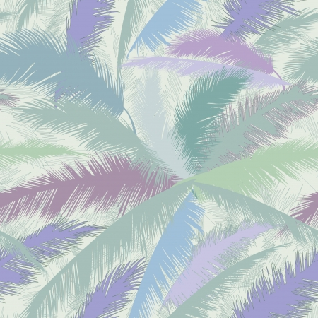 Decorative abstract floral seamless pattern  Palm leaves seamless background   Vector