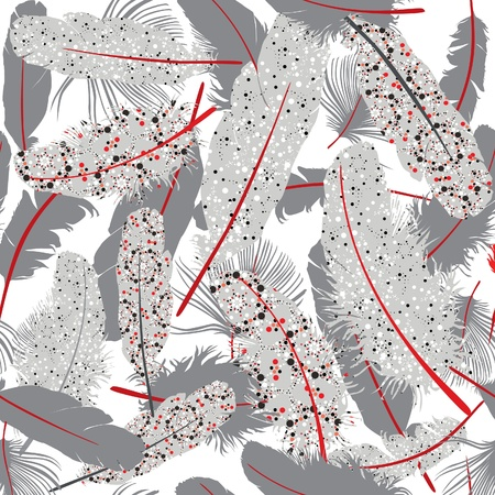 Feather seamless background  Illustration