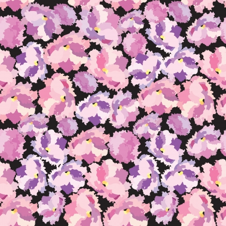 tileable: Flowers seamless background  Vector Graphic  Abstract floral impressionistic texture   Illustration