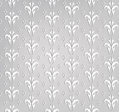 Abstract Geometric Retro Texture  Seamless pattern  Floral lightning ornament  Black and white flower background  Vector