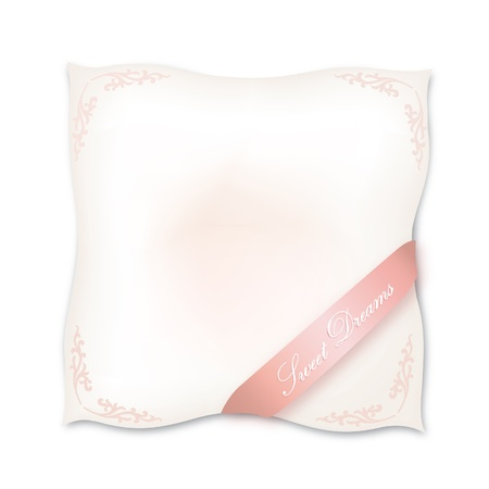 Pillow isolated on white background  Sweet dreams vector concept illustration Stock Vector - 20912588