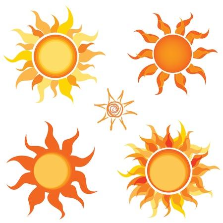 rise and shine: Sun  Vector illustration set