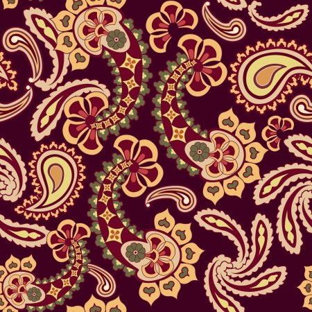 Abstract floral seamless pattern  Oriental asian lightning ornament  Flower background  Vector