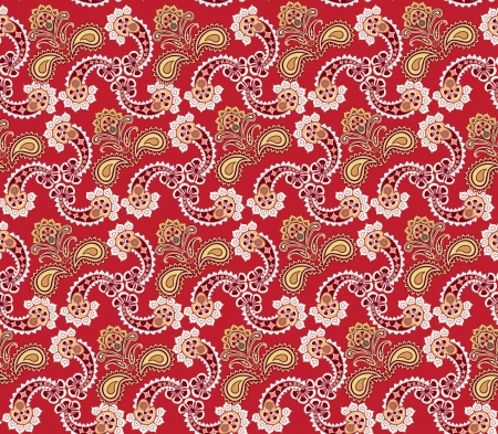 Abstract floral seamless ornamental pattern  Oriental flower background  Vector