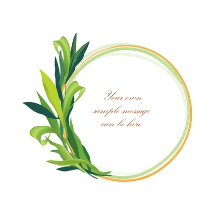Floral frame of round shape isolated over white background  Vector illustration Stock Vector - 21604168
