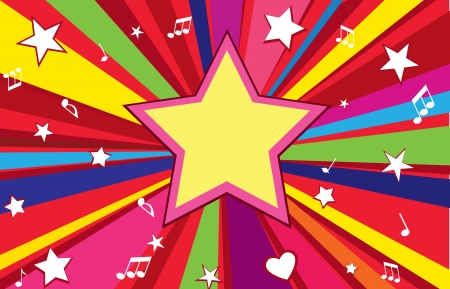 Star holiday background with copy space  Party wallpaper