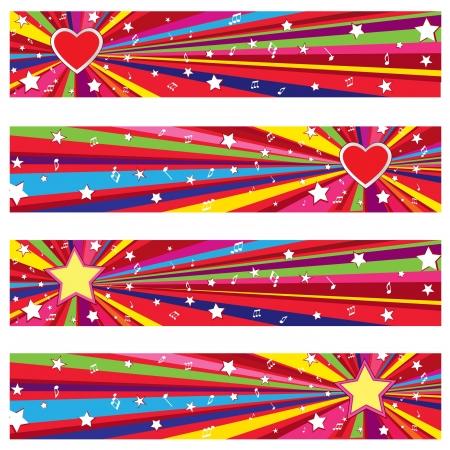 Star holiday backgrounds set with copy space  Party wallpaper Zdjęcie Seryjne - 21604179