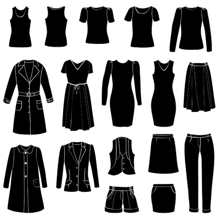 tunic: Fashion icons set  Female cloth collection