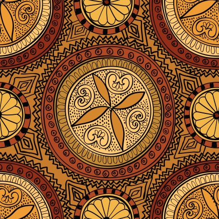 motifs: Abstract Ethnic Seamless Background   Illustration
