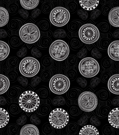 Abstract geometric kaleidoscope seamless background Vector