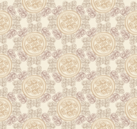 Abstract Brocade Seamless Background  Vector
