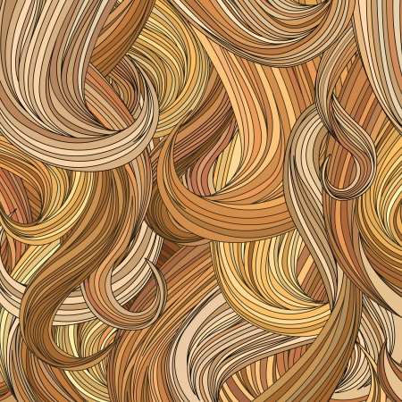 hair styling: Blond hair background   Illustration