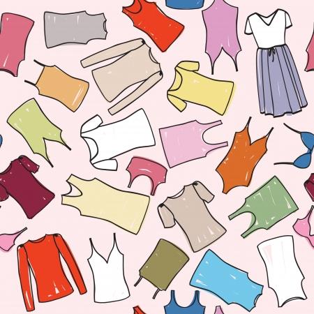 t shirt blouse: Cloth seamless patterm  Fashion dress background