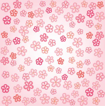 japanese motif: Flowers seamless background