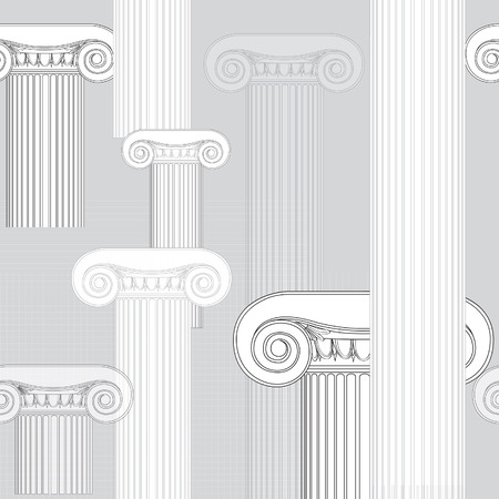 hellenistic: Roman columns Illustration on white background Illustration